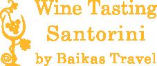 wine tasting santorini logo